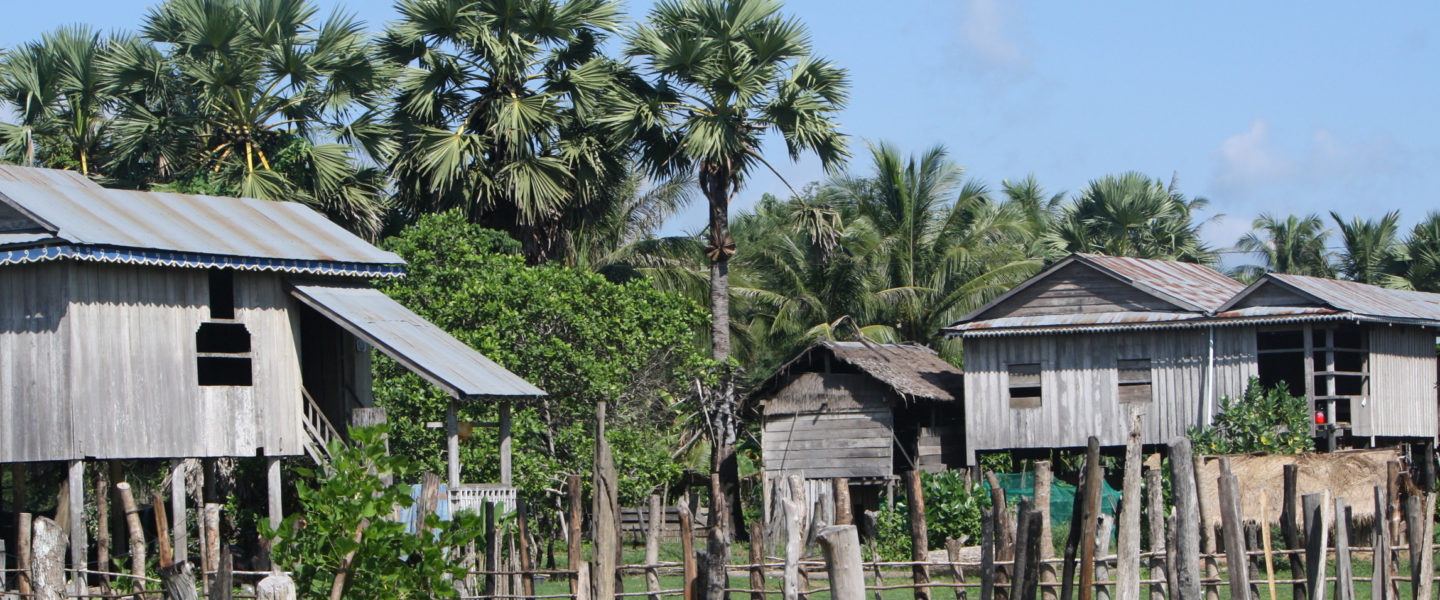 Cambodian elevated houses