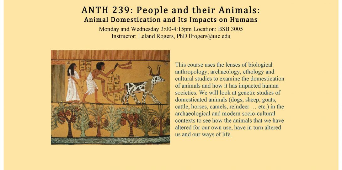 ANTH239 People and their Animals Rogers F2020